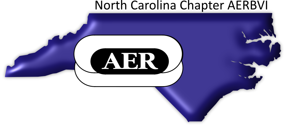 NCAER logo - AER on top of an outline of North Carolina